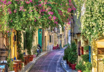 Bloemenstraatje Italië fotobehang