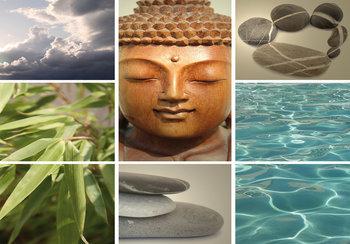 Spa fotobehang Buddha
