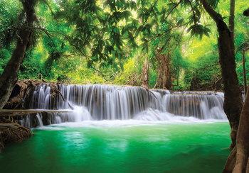 Jungle waterval fotobehang