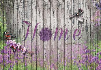 Hout fotobehang Home Sweet Home