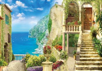 Mediterraans Straatje fotobehang