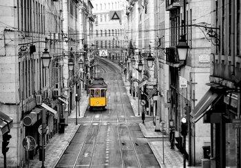 Lissabon tram fotobehang