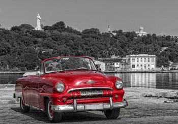 Auto fotobehang Cuba