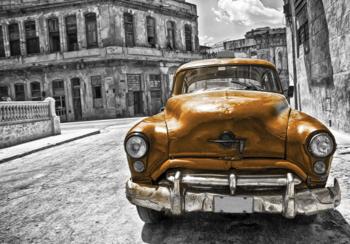 Auto fotobehang Cuba Brons