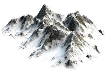 Bergtoppen fotobehang sneeuw