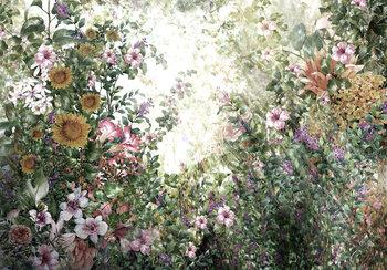 Bloemen fotobehang tuinbloemen
