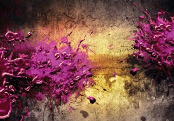 Abstract fotobehang lila