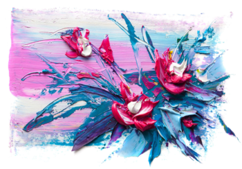 Bloemen fotobehang art 1