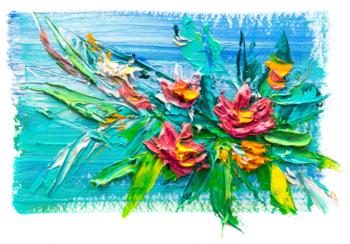 Bloemen fotobehang art 2