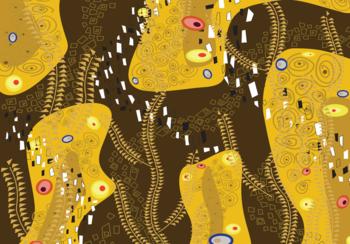 Abstract fotobehang Gold