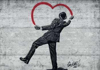 A Gentleman in Love fotobehang Banksy