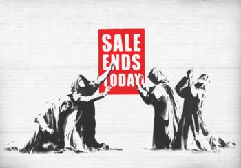 Sale Ends Today fotobehang Banksy