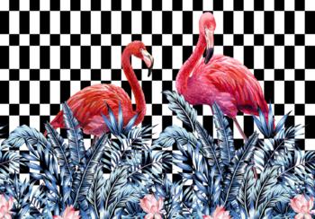 Flamingo fotobehang Hip