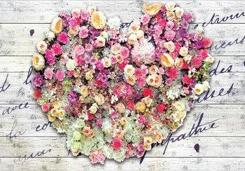 Bloemen fotobehang Hart