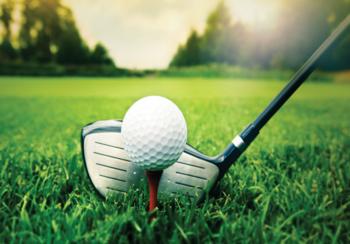 Golf fotobehang Golfclub
