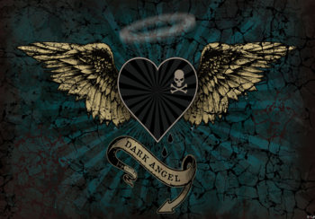 Alchemy Heart Dark Angel fotobehang groen