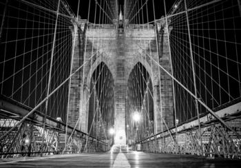 Brug fotobehang zwart-wit