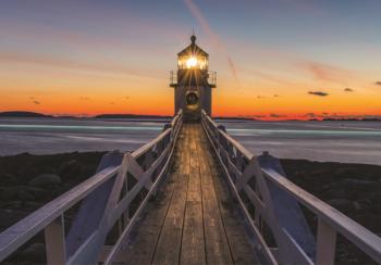 Lighthouse fotobehang Sunset