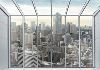 City skyline 3D fotobehang