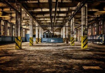 Oude Fabriekshal fotobehang
