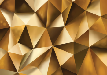 Abstract Gold fotobehang Hexagon