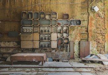 Industrieel fotobehang Stoppenkast