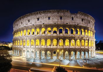 Colosseum by night fotobehang
