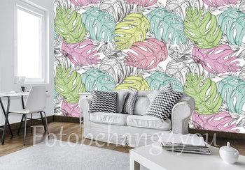 Palmbladeren fotobehang Pastel