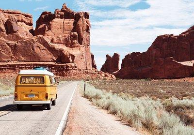 Volkswagen busje fotobehang
