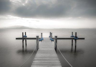 Pier fotobehang Lake Zug
