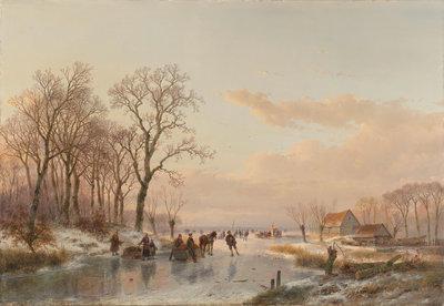 Bevroren vaart fotobehang Rijksmuseum