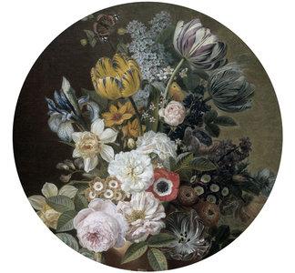 Behang cirkel Stilleven met Bloemen - Eelkema