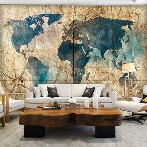 Wereldkaart fotobehang Map