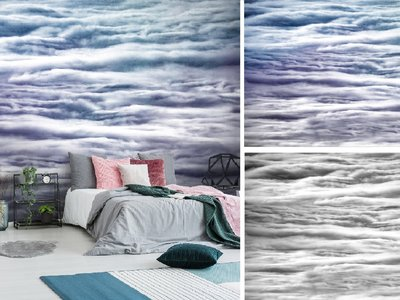 Altostratus wolken fotobehang