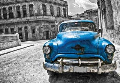 Auto fotobehang Cuba rood