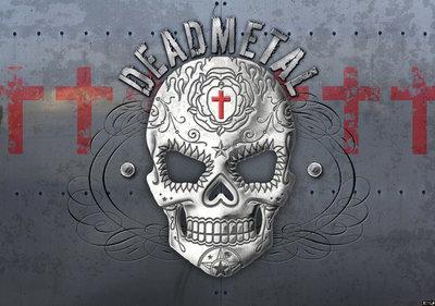 Dead metal Skull Alchemy fotobehang