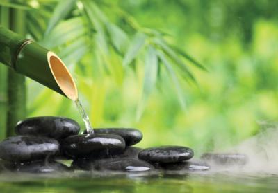 Zen Waterstroom fotobehang