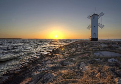 Molen zonsondergang fotobehang