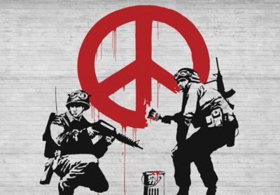 CND Soldiers fotobehang Banksy