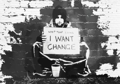Keep Your Coins fotobehang Banksy