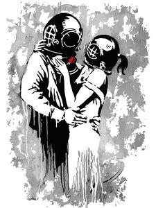 Think Tank fotobehang Banksy