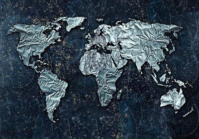 Wereldkart fotobehang folie