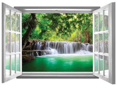 Raam fotobehang Waterval 1