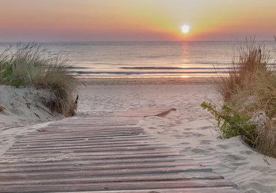 Strandafgang Sunset beach fotobehang