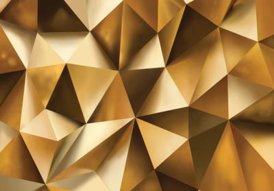 Abstract Gold fotobehang