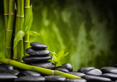 Zen stenen fotobehang