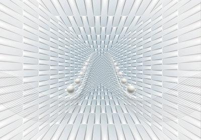 Abstract fotobehang Tunnel