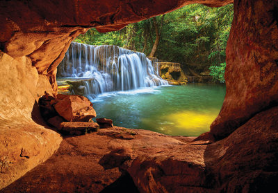 Grot waterval fotobehang