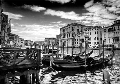 Venetië fotobehang zwart-wit