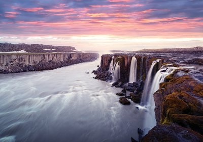 Selfoss waterval fotobehang